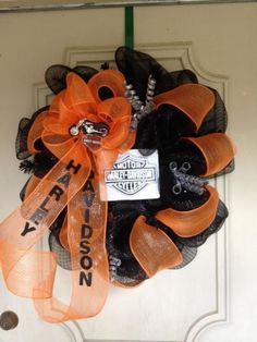 Harley Davidson wreath, this is a good idea for SIL.