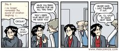 PHD Comics. If you wait long enough, your advisee will either figure it out or faint from hunger waiting for you....