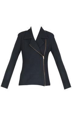 Shweta Kapur - Asymmetric zip wool jacket