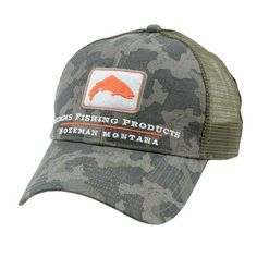 Simms Adults' Trout Trucker Cap (Green/Brown, Size One Size) - Men's Outdoor Apparel, Men's Hunting/Fishing Headwear at Academy Sports
