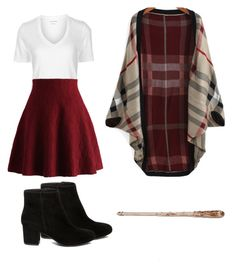 """""""Harry Potter Gryffindor outfit """" by bajinkaaa on Polyvore featuring Étoile Isabel Marant, Chicwish and Steve Madden"""