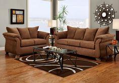 Aruba Brown Sofa Sleeper U0026 Loveseat