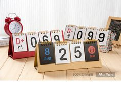 2017 Small Desktop Calendar Table Countdown Perpetual Calendar Cheap Wholesale Promotions Office Supplies