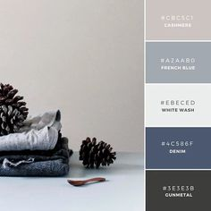 bedroom colors - Build Your Brand: 20 Unique and Memorable Color Palettes to Inspire You – Design School Blue Colour Palette, Colour Schemes, Color Combos, Color Schemes With Gray, Color Blue, Paint Combinations, House Color Combinations, Color Palette Gray, Grey Colors