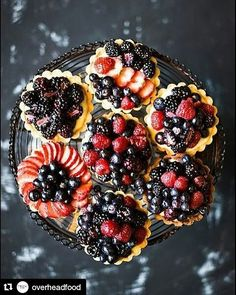 #Repost @overheadfood with @repostapp  Berry tarts    #foodpic #overheadfood #photooftheday #foodgasm #eating #coffee #cafe #drink #tart #pie #cake #strawberry #dessert #food #yum #yummy #instafood #sweet #cake #butter #redfruits #bread #foods #foodpics #foodporn #dinner #lunch #breakfast #tasty