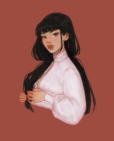 Cute Art Styles, Cartoon Art Styles, Cartoon Girl Drawing, Girl Cartoon, Cartoon Hair, Cool Art Drawings, Art Sketches, Avatar The Last Airbender Art, Cartoon Kunst