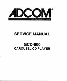 adcom gfa 565 original service manual adcom service manuals rh pinterest com