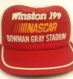 Winston 199 NASCAR Bowman Gray Stadium Trucker Hat Baseball Cap Mesh Snapback #Challenger #TruckerHat
