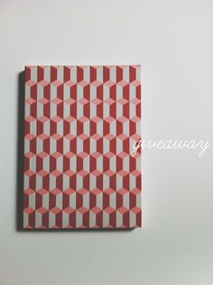#Giveaway // Geometric pattern notebook // $2