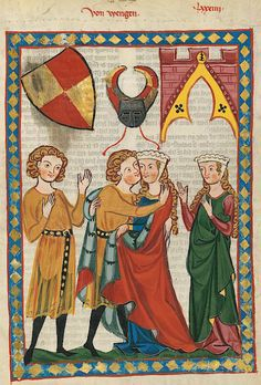 Manesse Codex -  (1300 -  1340) Von Wengen