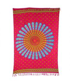 LOUDelephant Mandala Dots Print Viscose Rayon Sarong - Pink