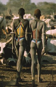 Dinka Herders with Cattle by Carol Beckwith and Angela Fisher