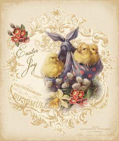 JanetK.Design Free digital vintage stuff: Easter Joy