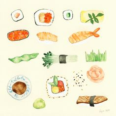 This summer at the beach we will make sushi!