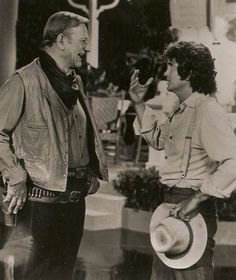 John Wayne and Michael Landon