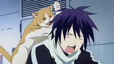 Noragami--I'm fairly sure that's Yato's fluffy fluffy scarf right? ;)
