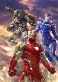 """The Iron Team"" -Fankunst von Isuardi Therianto - marvel - Iron Man Avengers, Marvel Avengers, Marvel Dc Comics, Marvel Fanart, Marvel Heroes, Heroes Comic, Iron Man Kunst, Iron Man Art, Comic Art"