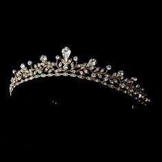 Silver or Gold Plated Wedding Tiara hp9836 - beautiful!