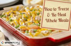Learn how to freeze whole meals for busy nights. Find out which recipes freeze well and which don't. Save time and money, and get real food on the table fast!