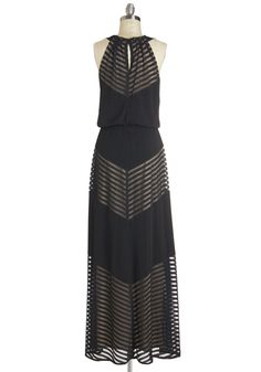 Rare and Remarkable Dress. Youre renowned for your elegant and idiosyncratic style, which you channel for tonights party by slipping into this sleeveless maxi dress! #black #modcloth