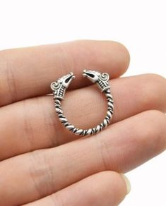 £19.99, Solid Adjustable Viking Ring Dragon Heads Norse Antique Silver, Free Delivery, 30 Day Money Back Guarantee, C&S Luxury Jewelry.