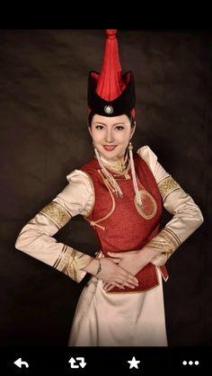 mongolian miss women in mongolian costume