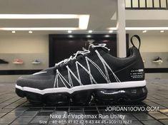 5b7002c4727 Nike Air Vapormax Run Utility 2018 849557-113 Black White Original Mens  Running Shoes Copuon