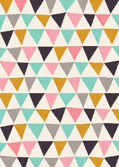 Black, Gold, Pink, & Mint Triangles // yes Graphic Patterns, Color Patterns, Print Patterns, Motifs Textiles, Textile Patterns, Cute Pattern, Pattern Design, Bunting Pattern, Triangles