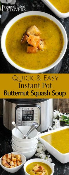This delicious Instant Pot Butternut Squash Soup recipe with Potatoes and Collard Greens is easy to make! It is a hearty soup recipe with a lot of flavor. You can also make this in a traditional pressure cooker.