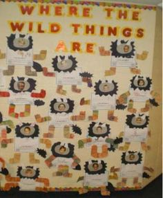 Where the Wild Things Are writing prompt & photo art project. Each student becomes a little monster :)