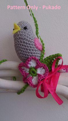 PATTERN ONLY Spring Bird Only DIY home decor Own door Pukado