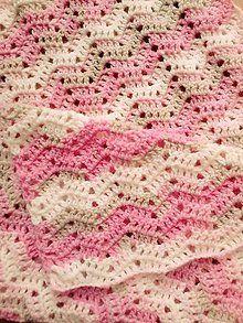 Textil - ružová háčkovaná baby deka - 5716187_