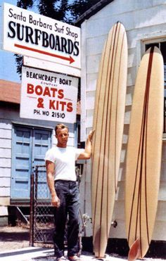 Santa Barbara Surf Shop, 1960's......... Long board heaven! I was a student there at the time.