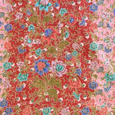 rose pink flowers print  pure cotton traditional by TheThailand