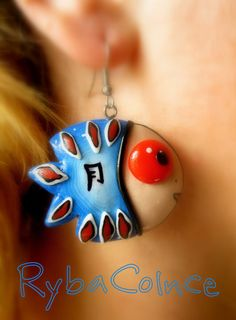 Earrings made of polymer clay.The fish happiness by RybaColnce, $14.00