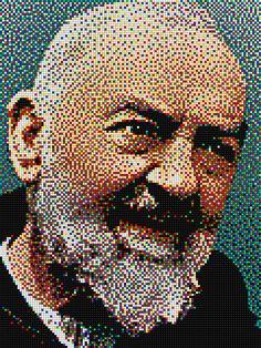 Padre Pio - Pixel Art Quercetti