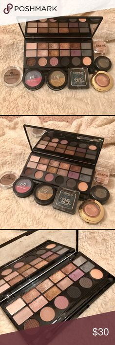 """Bundle of eyeshadows! Makeup forever """"girls on film"""" palette. Used about 5 times. Very pigmented and smooth colors. The rest of the shadows have been gently used. Variety from mac to Milani to elf... etc. all offers welcome. MAC Cosmetics Makeup Eyeshadow"""