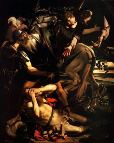 The Conversion of Saint Paul. Caravaggio. 1600. Oil on cypress wood. 237 x 189 cm.Odescalchi Balbi Collection. Rome.