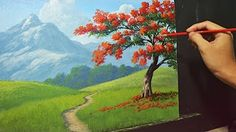 Acrylic Landscape Painting Lesson - Overlooking View by JM Lisondra - YouTube