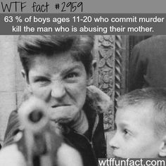63% Of Boys Ages 11-20 Who Commit Murder Kill The Man Who Is Abusing Their Mother.