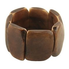 Polished Tagua Nut Bracelet in Chocolate - Faire Collection