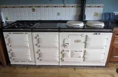 Aga Cooker - Four Oven Purpose Built Gas Aga in cream WITH Electric/Gas Module | eBay