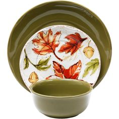Homes and Gardens 12-Piece Harvest Dinnerware Set Assorted Colors  sc 1 st  Pinterest & Mix and Match Better Homes and Gardens Thanksgiving dinnerware at ...