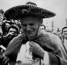 April 11, 1979. Pope John Paul II in Monterrey México Mexico.
