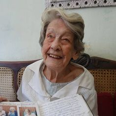 GRACIELA'S SECRET- 104-yr old Graciela Perez's secret to longevity: quickly forget your disappointments, don't expect too much & treat everyone to a smile. #centenarian #wisdom