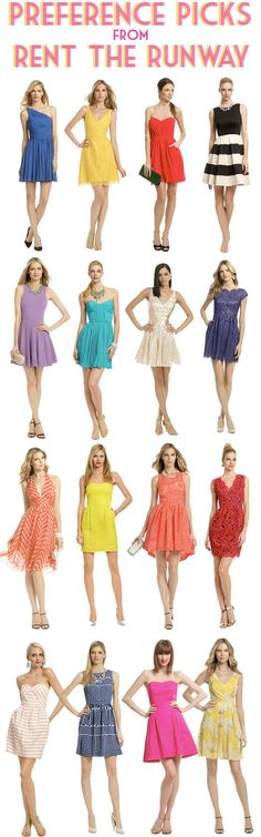 My dress for preference night is extremely similar to the top right dress.. :)