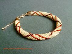 Bracelet, bead crochet, Toho