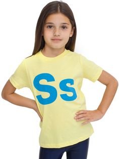 Kids Helvetica Alphabet Fine Jersey Short Sleeve T   2 - 6 Years   Sale's Kids & Babies   American Apparel