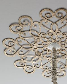 Scrolled Ceiling Medallion- Find wall piece and make it a medallion instead of paying the expensive price.