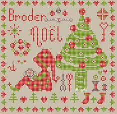 Broder Noël... C'est ce que je brode en ce moment... (mais ça n'avance pas aussi vite que je le souhaiterais!...) L'aurez-vous brodée avant moi?! clic sur l'image pour accéder à la grille